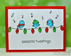 Crafty Time 4U Holiday craft series using #LawnFawn Stamps
