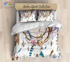 Bohemian bedding, Vintage skull
