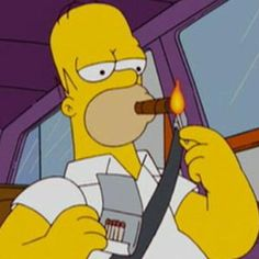 Homer Simpson d'ohn't mess around when it comes to his fine smokables.