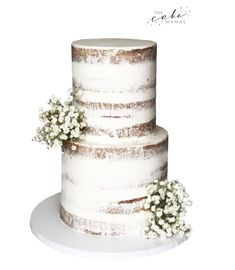 Rustic naked wedding cake with fresh flowers. Call or email to order your celebration cake today. Fresh Flower Cake, Fresh Flowers, Cakes Today, Cupcake Wars, Cake Decorating Tips, Celebration Cakes, Custom Cakes, Wedding Season, Food Network Recipes