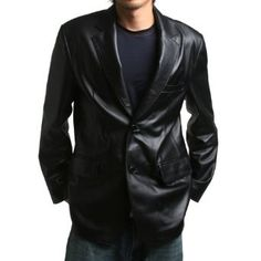 Browse our selection of Jackets & Coats - Mens Genuine Leather Jacket Sheepskin Blazer two button at FLATSEVEN Official Online Shop. Black Leather Blazer, Leather Men, Leather Jackets, Blazer En Cuir, Doctor Who, Sharp Dressed Man, Sports Jacket, Leather Fashion, Mens Fashion