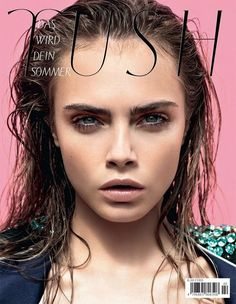 Cara Delevingne styled with wet hair http://www.fashionising.com/trends/b--wet-look-hair-14802.html for Tush magazine