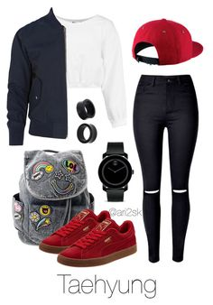 Hanging out - Taehyung Kpop Fashion Outfits, Korean Outfits, Teen Fashion, Korean Fashion, Womens Fashion, Outfits For Teens, Trendy Outfits, Cute Outfits, Bts Inspired Outfits