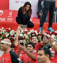 Bipasha Basu at the Delhi Half Marathon. #Bollywood #Fashion #Style #Beauty #Hot