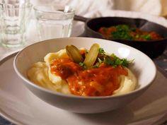 Stroganof nyhtökaurasta Risotto, Healthy Eating, Vegetarian, Vegan, Ethnic Recipes, Food, Eating Healthy, Meals, Healthy Food