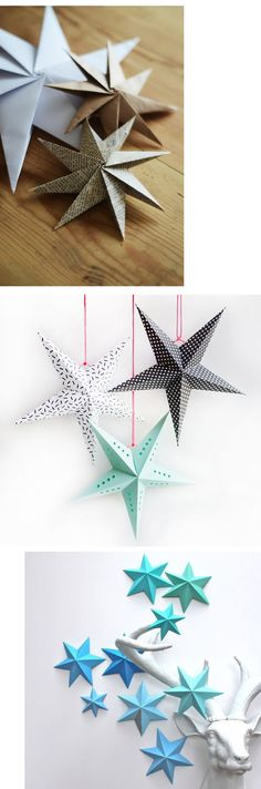 Ideas de temporada :: adornos navideños caseros y fáciles Hemos buscado un montón de ideas para esos #adornos #navideños que no cuesta hacer y que llenan las casas de alegría. #adornos #baratos #lowcost #adornosnavideños #diy #handmade #christmas #christmascrafts #crafts #navidad #2015 #2016 #casa #deco #paquetes #arboles #gift #tree #star #estrellas estrellas navidad modus vivendi adornos navideños christmas stars diy handmade caseros