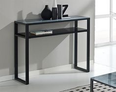 Chic Glass Console Table with Wood and Metal Legs | Sumpto