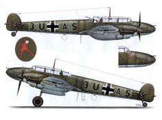 Messerschmitt Bf 110C Zerstorer 8.ZG26 (3U+AS) during Battle of Britain
