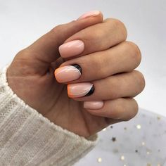 Cute French Nail Art Designs Ideas To Wear Nowe Shellac Nails, Gel Manicure, Gel Nail Art, Matte Nails, Glitter Nails, Stiletto Nails, Geometric Nail, Nail Polish Style, Nail Candy