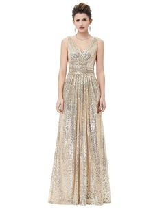 a6147f601a3 Get Kate Kasin Women Sequined Bridesmaid Dress Sleeveless Prom Banquet  Evening Dresses Long at Womens Clothing Center