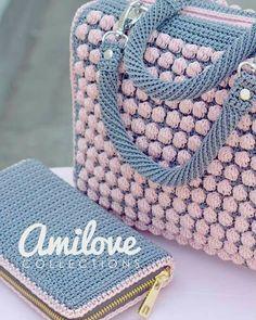 Bobble stitch handbag crochet pattern with video tutorial – Artofit