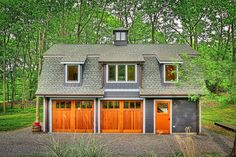 51 Of The Absolute Best Barndominium Pictures On The Internet Old Garage, Garage House Plans, Small House Plans, Barn Garage, Garage Kits, Dream Garage, Metal Building Homes, Building A House, Two Story Garage