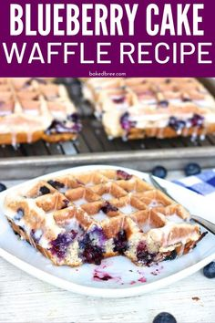 The Rise Of Private Label Brands In The Retail Meals Current Market Blueberry Cake Waffle Recipe Is A Blueberry Waffle Recipe On Steroids Studs Of Blueberries In Every Single Sweet And Delightful Bite. A Tasty Waffle To Kick Start The Morning. Mini Waffle Recipe, Waffle Maker Recipes, Blueberry Waffles, Blueberry Cake, Blueberry Waffle Recipes, Blueberry Breakfast, Waffle Desserts, Blueberry Ideas, Health Desserts