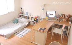59 Trendy Ideas For Apartment Living Room Studio Beds Small Room Bedroom, Home Bedroom, Bedroom Decor, Bedrooms, Living Room Bed, Study Room Decor, Cozy Living, Studio Bed, Studio Room