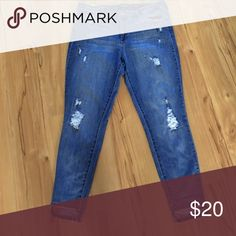 Kind of Patched ripped jean Jeans Skinny
