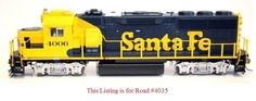 Fox Valley EMD GP60 Ho Scale ATSF #4035 WITH DC DCC SOUND