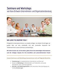 Seminare für Menschen mit Unternehmergeist!