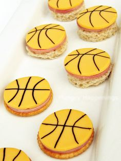 Basketball themed Snacks for Kids