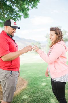 ninth hole proposal, she said yes, proposal ideas, surprise proposal, engaged, engagement