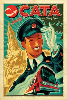 Mark Bender, poster for a famous bus line.