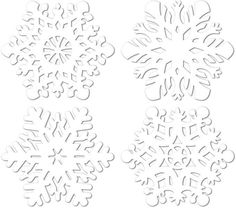 Winter/Christmas Snowflake Cutouts - 14 inch to 14.5 inch Case Pack 24