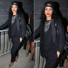Rihanna wearing Falkor by DYLANLEX