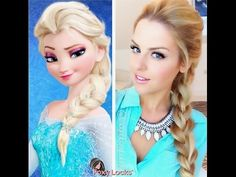 Elsa Hairstyle Inspired By Disney Frozen Coronation Updo - Updo Hairstyle - YouTube