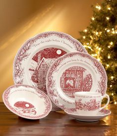 Johnson Brothers Twas the Night Dinnerware Collection (Noble Excellence) & christmas china dinnerware patterns | China Crystal and Silver ...