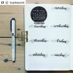 "By @bujobeyond Tag your photos with #bujobeauty for a chance to be featured ・・・ This week's layout ❄️ The design got a bit more ""busy"" than I intended but oh well . . . #bujo #bujolove #bujo2017 #bujoideas #bujoinspo #bujocommunity #bujoinspire #bujoinspiration #bujojunkies #bulletjournal #bulletjournaling #bulletjournalcommunity #bujobeauty #bulletjournallove #creative #creativity #font #handlettering #lettering #handwritten #handwriting #draw #drawing #planner #planneraddict #..."