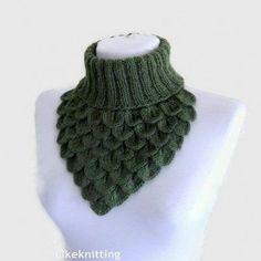Crochet Patterns Cowl Crochet Neck Warmer Crocodile Scarf Neck Cowl by likeknitting Col Crochet, Crochet Baby Cocoon, Crochet Socks, Crochet Scarves, Crochet Shawl, Crochet Clothes, Knitted Hats, Crochet Crafts, Crochet Projects