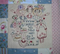 Red Brolly has the cutest designs. Embroidery Hoop Art, Hand Embroidery Patterns, Vintage Embroidery, Embroidery Applique, Cross Stitch Embroidery, Quilt Patterns, Machine Embroidery, Embroidery Designs, Cross Stitch Patterns