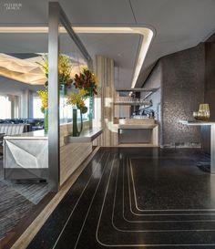 Gabellini Sheppard Returns for Rainbow Room and SixtyFive Restaurant Design, Restaurant Bar, Luxury Interior, Interior Architecture, False Ceiling Living Room, Mix Use Building, Rainbow Room, Art Deco, False Ceiling Design
