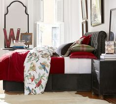 Holiday Fauna Bedding, Velvet Channel Quilt an Sham, Adeline Crystal Ambient Accent Table Lamp | Pottery Barn