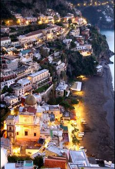 A view of Positano from the roof of the Hotel Villa Franca