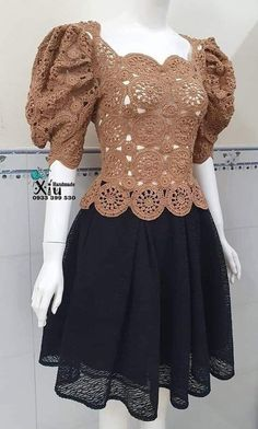 Crochet Coat, Crochet Winter, Crochet Blouse, Love Crochet, Crochet Clothes, Crochet Flowers, Boho Crochet Patterns, Crochet Designs, Tatting Necklace