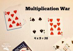 Mom to 2 Posh Lil Divas: Math War: 6 Math Card Games for Kids