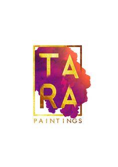 Logo Design for Tara Paintings Graphic Design Posters, Typography Design, Branding Design, Logo Design, Baby Ballet, Initials Logo, Black Women Art, Painted Floors, Logo Ideas