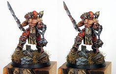 Age of Sigmar | Khorne Bloodbound | Exalted Champion of Khorne #warhammer…