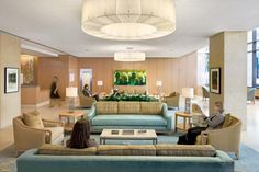 A lobby waiting area inside a New York City cancer center, a Perkins Eastman project. Photo credit: ©Chris Cooper.