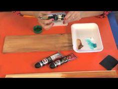 Cómo patinar muebles de madera de pino - YouTube
