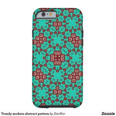 Trendy modern abstract pattern tough iPhone 6 case