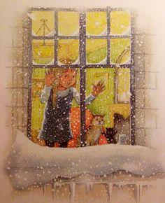Illustratie Helen Oxenbury. Uit het boek 'Alice in Spiegelland' van Lewis Carroll