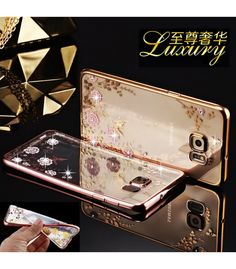 Cheap case for samsung galaxy, Buy Quality case for samsung directly from China case for Suppliers: Flora Diamond Case for Samsung Galaxy 2016 Chic Flower Bling Soft TPU Cover Ultra Thin Clear Phone Bag For Samsung Galaxy S3, Samsung Galaxy S6 Edge, Samsung S7 Edge Cases, Phone Cases, Galaxy Note, Design Transparent, Capas Samsung, Iphone 6, Flora