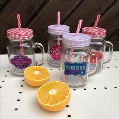 Mason Drinking Jar with Lid and Straw, with funky slogans #homedecor #masonjar #giftideas