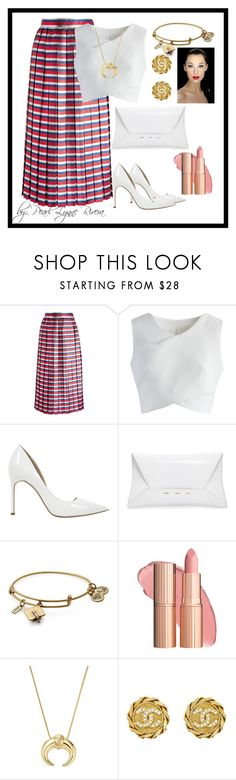"""""""Ynallection liza"""" by pearllynnerivera on Polyvore featuring Gucci, Chicwish, Manolo Blahnik, VBH, Alex and Ani, Bloomingdale's and Chanel"""