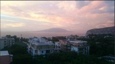 Sunset from Zi' Teresa top terrace! From our guests! Sorrento, 4 Star Hotels, Terrace, Swimming Pools, Clouds, Italy, Celestial, Sunset, Top