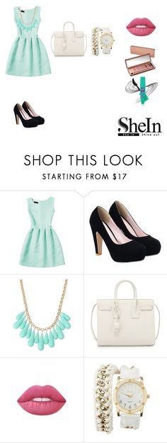 """mint dress"" by xxaleenxx on Polyvore featuring INC International Concepts, Yves Saint Laurent, Lime Crime, Urban Decay and Charlotte Russe"