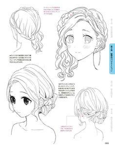 haar tekenen Drawing Hairstyles For Yo - haar Drawing Hair Tutorial, Manga Drawing Tutorials, Drawing Techniques, Art Tutorials, Drawing Tips, Anime Drawings Sketches, Anime Sketch, Realistic Drawings, Pencil Drawings