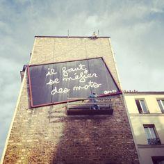 """"""""""" Art urbain, Belleville. #Paris"""