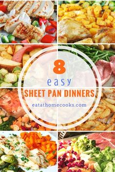 9 Easy Sheet Pan Dinners Your Family Will Love! You know I'm all about good food. But if I can make dinner time easier? That's one of the reasons why I really love my slow cooker. One Pan Meals, No Cook Meals, Big Meals, Freezer Meals, Quick Meals, Recipe Sheets, Sheet Pan Suppers, One Pan Dinner, Korma